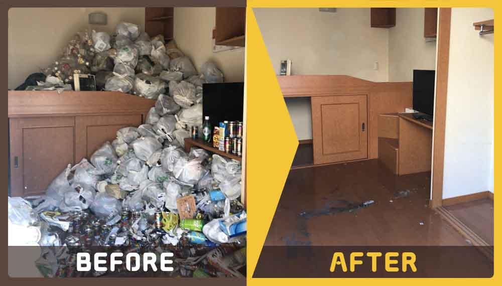 お引越しに伴い片づけの際に出てきた大量のゴミ(缶、ペットボトル、家庭ごみなど)の処理にお困りのお客様からご依頼いただきました。