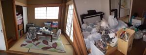 伊丹市で引越しでの不用品回収のビフォー写真