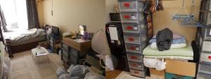 伊丹市で冷蔵庫、ベッドなど回収のビフォー写真