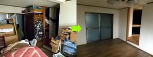 川西市内の1軒家で遺品整理のビフォー写真