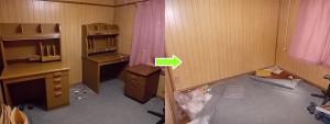 伊丹市西野で学習机、カーペットなど回収のビフォーアフター2