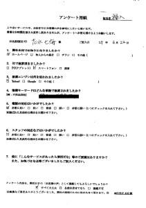 三田市で1Rの不用品回収ご依頼の志水様のメッセージ