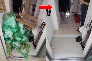 尼崎市で姿見、家庭ゴミ回収の写真