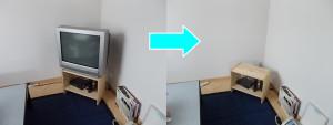 神戸市でテレビ1台回収の写真