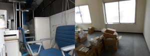 尼崎市でオフィスチェア、冷蔵庫など回収写真