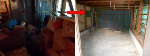 篠山市の一軒屋で家具家電回収の写真2