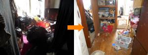 西宮市内で食器棚、ベッド等回収の写真2
