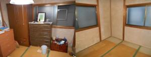 川西市の1軒家で家財道具回収の写真2