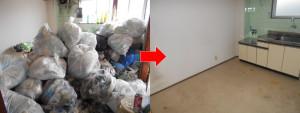 宝塚市内にて家財道具一式とごみの回収の写真