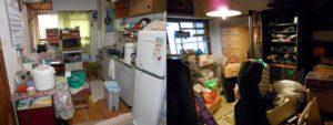 西宮市で2DKの家財道具回収とハウスクリーニングのビフォー写真