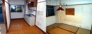 西宮市で2DKの家財道具回収とハウスクリーニングのアフター写真