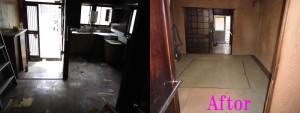 尼崎市で冷蔵庫、雑誌など回収の施工後の写真