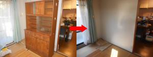 西宮市でエアコン、食器棚など回収の写真1