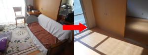 宝塚市での2DKの家財道具処分の写真2