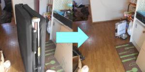 川西市内で、折り畳みベッド、本棚など回収のお客様の画像