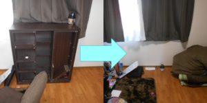 川西市内で、折り畳みベッド、本棚など回収のお客様の画像2