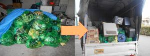 尼崎市内で、洗濯機、衣類など回収のお客様の画像2