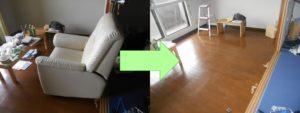 尼崎市内で、ソファー、エアコンなど回収のお客様の画像1