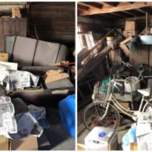 宍粟市で物置の片付けに伴う不用品(ソファー、タンス、自転車など)の回収のご依頼 お客様の声