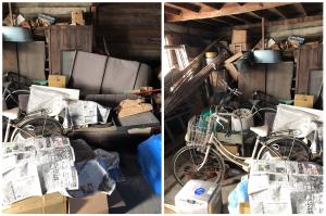 【宍粟市】物置の片付けに伴う不用品(ソファー、タンス、自転車など)の回収のご依頼 お客様の声