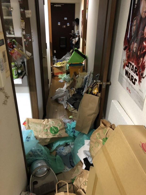 【姫路市広畑区】マンション1室分の不用品回収☆お部屋の修繕前に大量の不用品に困っていたお客様に、素早い対応でご満足いただけました!