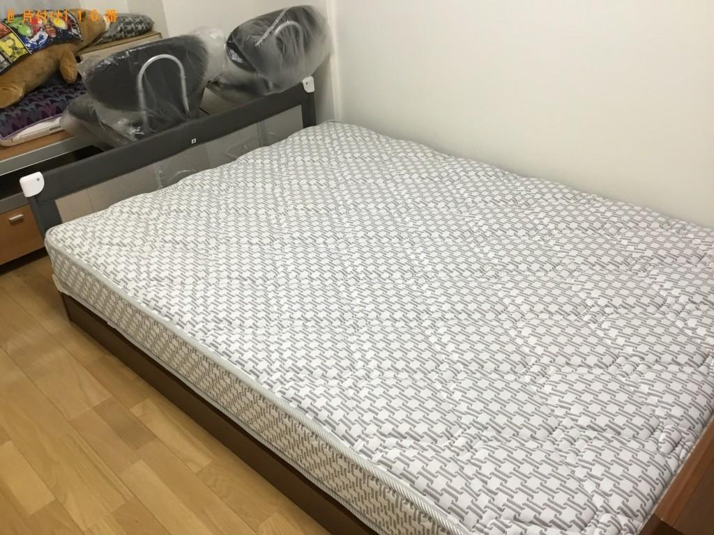 【神戸市中央区】ダブルベッド1点の処分 お客様の声