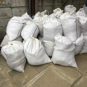 【高砂市】土嚢袋に入った土の回収・処分 お客様の声