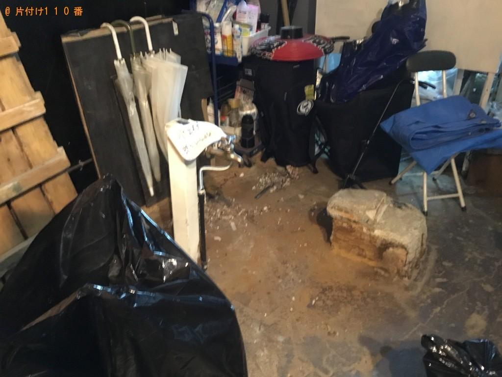 【尼崎市】冷蔵庫、衣装ケース、砂利などが入った土嚢袋の回収・処分