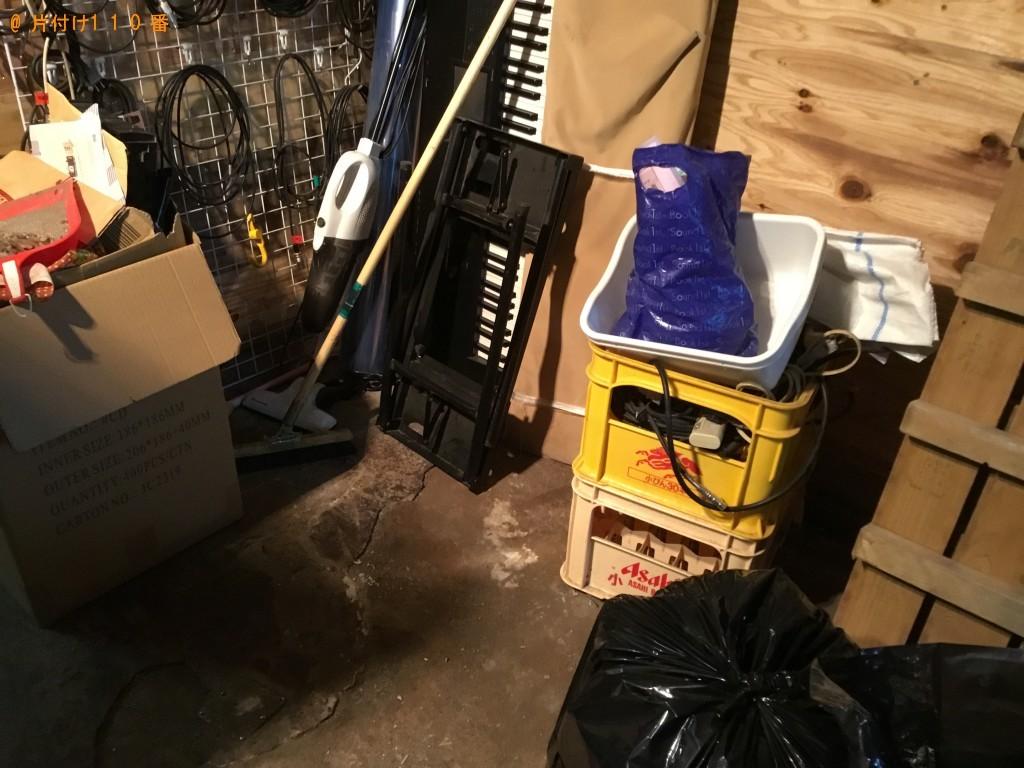 【飯綱町】冷蔵庫、衣装ケース、砂利などが入った土嚢袋の回収・処分
