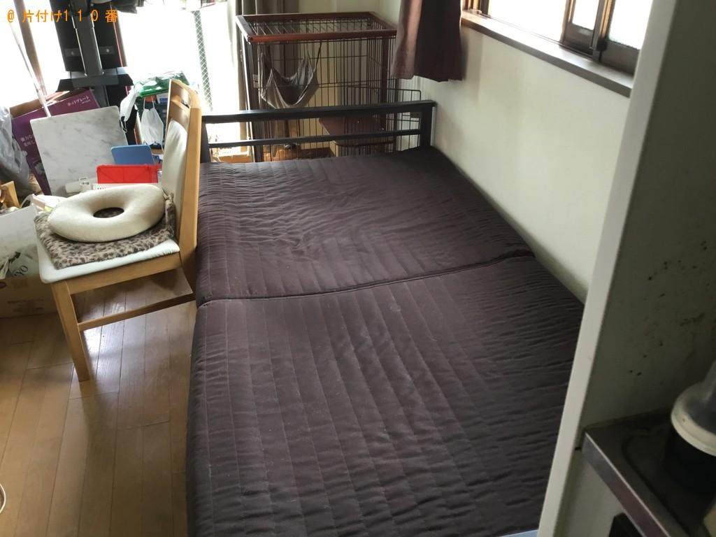 【宮城県川崎町】洗濯機、シングルベッド、ベッドマットレス等の回収・処分