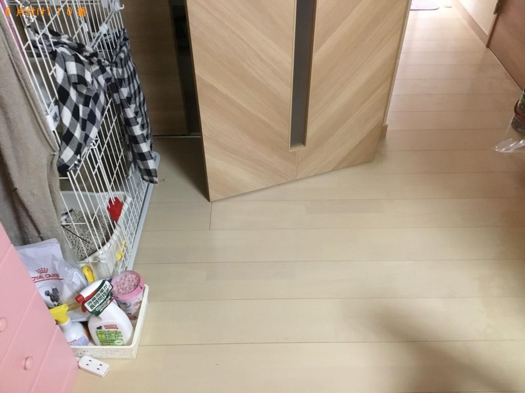 【尼崎市】ソファー、脚付きセミダブルマットレスの回収・処分ご依頼