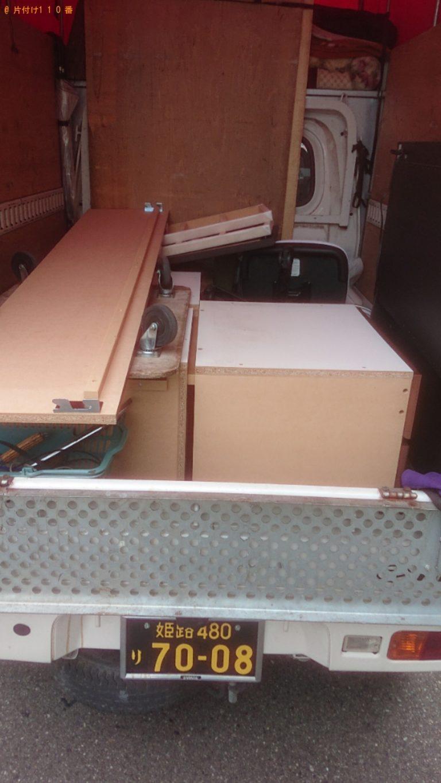 【稲美町】収納付きシングルベッドの回収・処分ご依頼