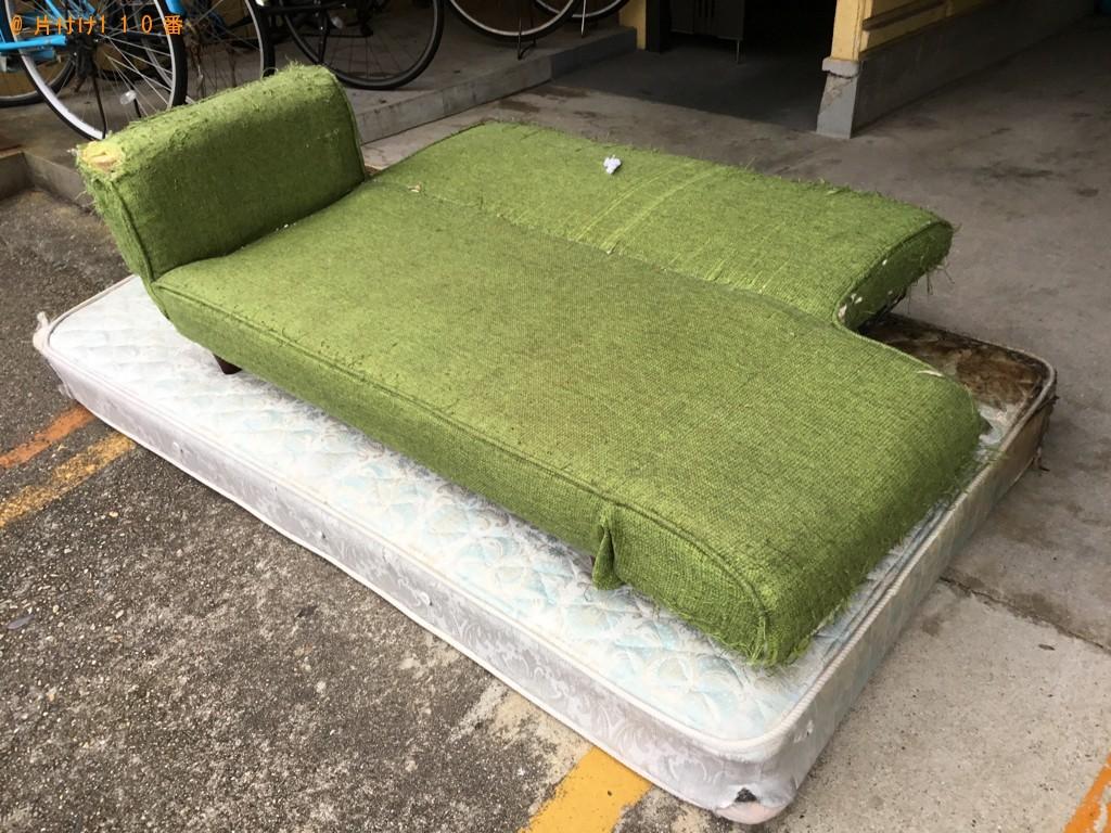 【神戸市垂水区】シングルベッドマットレス、ソファーの回収・処分
