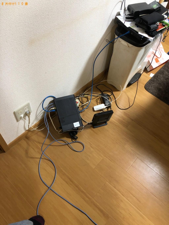【神戸市北区】PCデスク、椅子、ラック、メタルラック等の回収