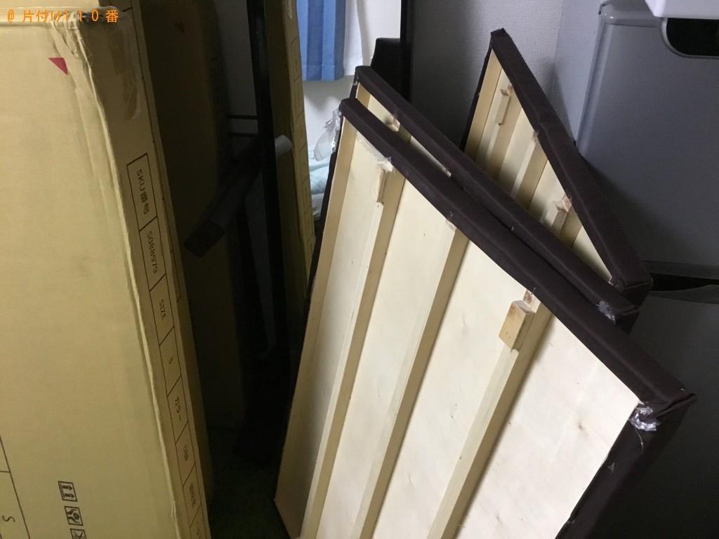 【尼崎市】遺品整理に伴いスタンドミラー、シングルベッド、椅子等の回収
