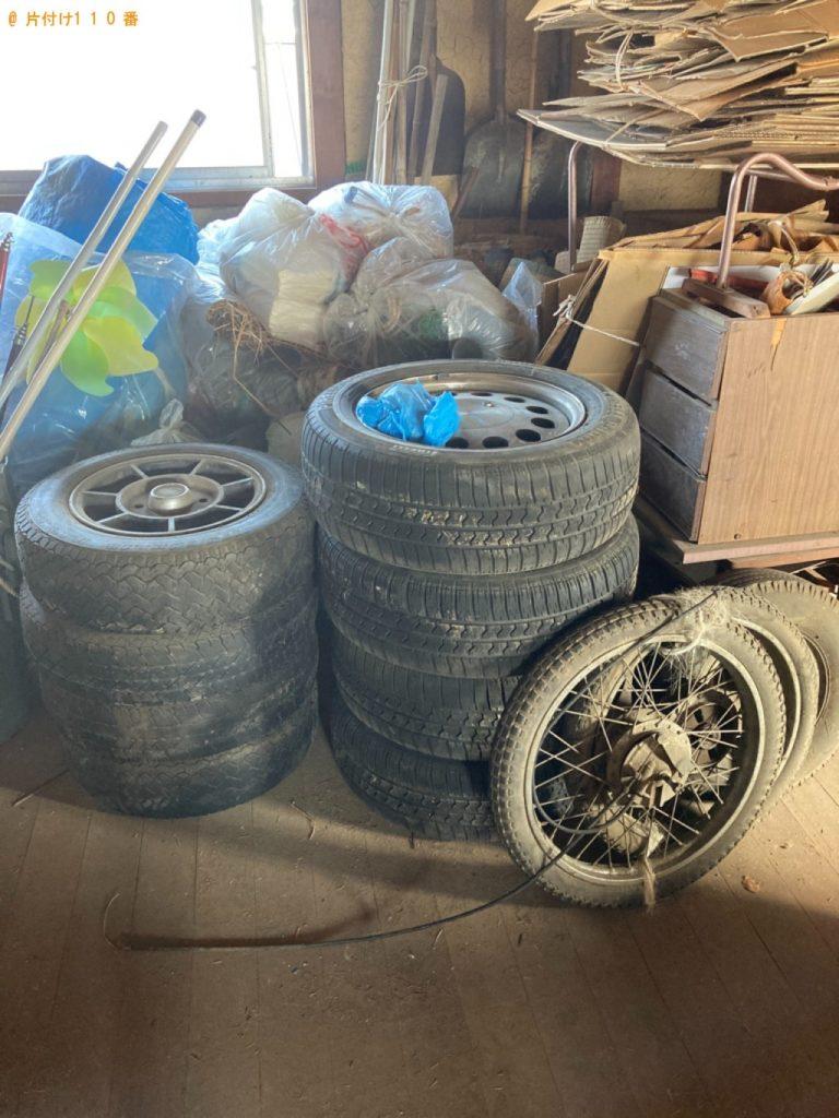 【洲本市】遺品整理に伴いタイヤ、ダンボール、キーボード等の回収・処分