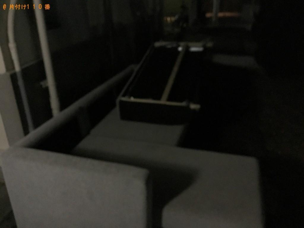【神戸市垂水区】三人掛けソファーの回収・処分ご依頼 お客様の声