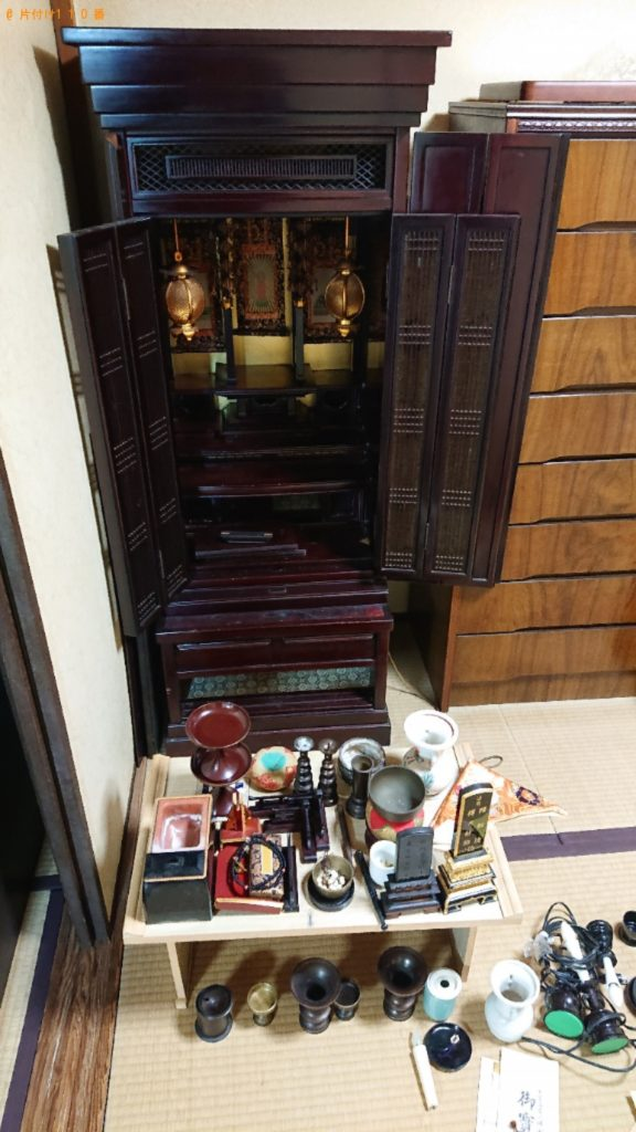 【神戸市東灘区】遺品整理で仏壇、仏具の回収・処分ご依頼 お客様の声