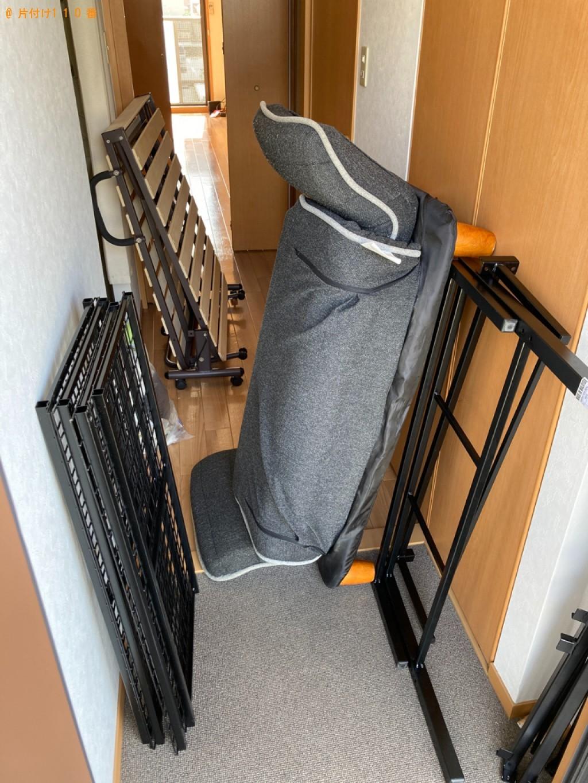 【姫路市飾磨区】シングルベッドと二人掛けソファーの回収・処分