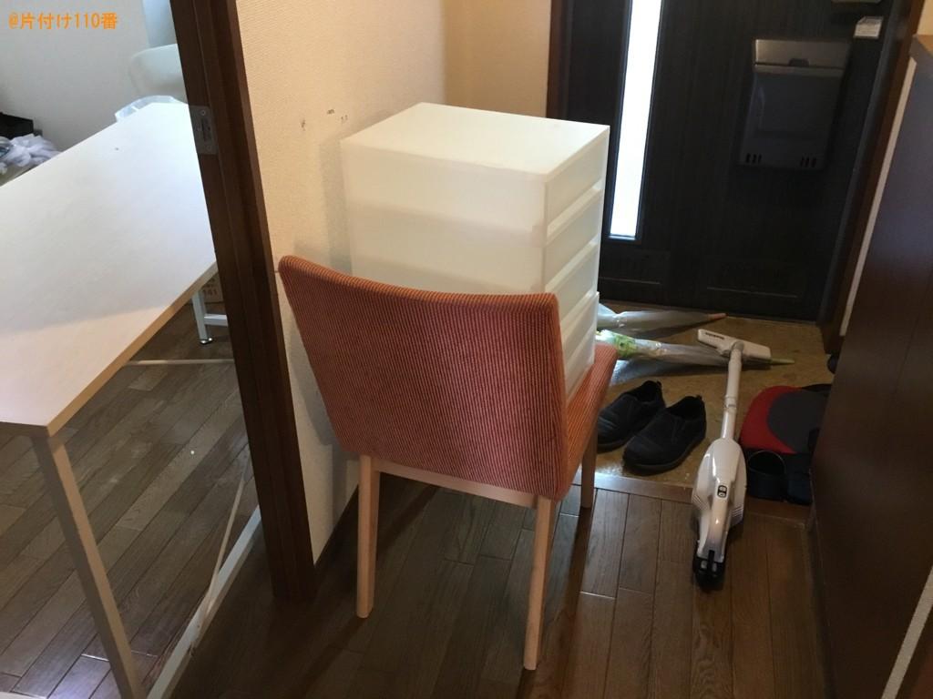 【西宮市段上町】テーブル、椅子、布団、収納ケース、掃除機等の回収
