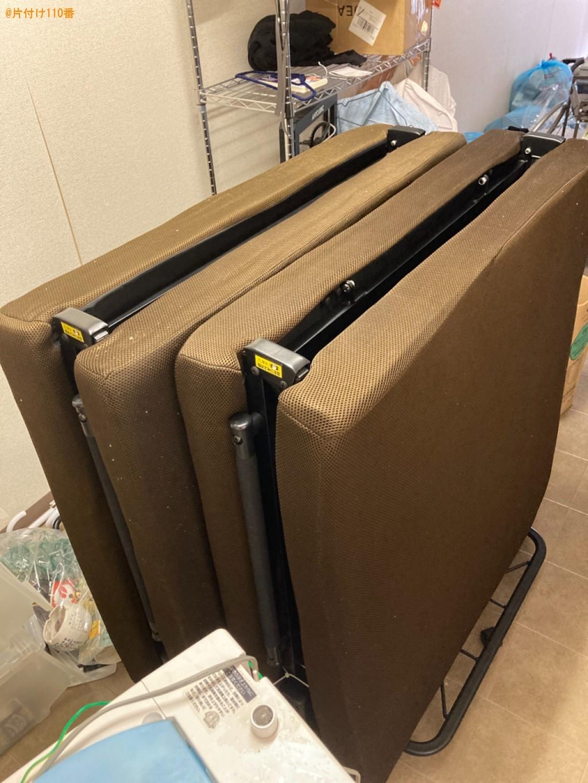 【神戸市兵庫区】冷蔵庫、洗濯機、折り畳みベッドの回収・処分ご依頼