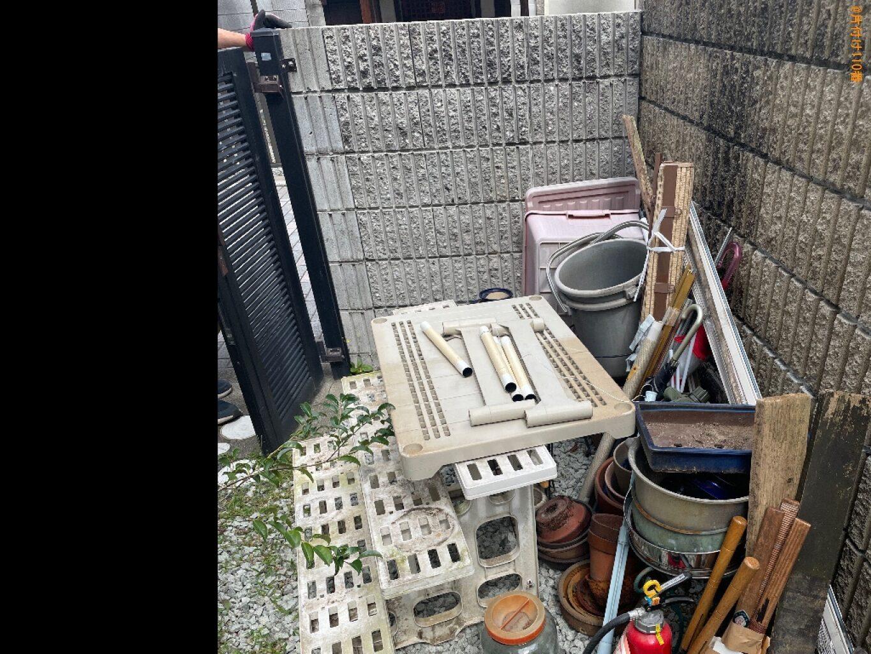 【尼崎市】エレクトーン、バケツ、鉢植え、木材、布団等の回収・処分